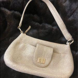 Talbots Synthetic Gold Straw Handbag Purse